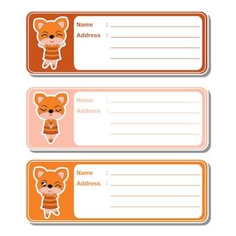Coleção de etiquetas de animais