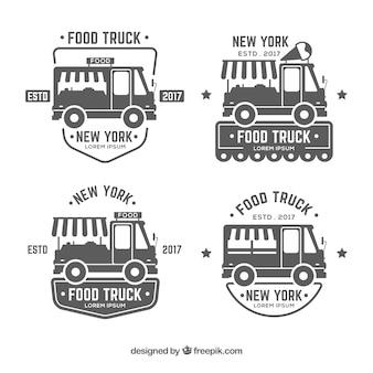 Coleção de etiquetas de caminhão de alimentos