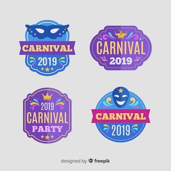 Coleção de etiquetas de carnaval