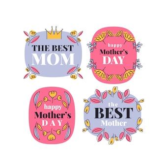 Coleção de etiquetas de dia das mães