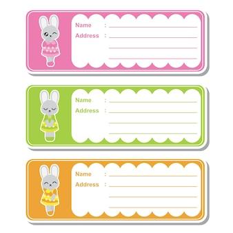 Coleção de etiquetas de festa para bebês