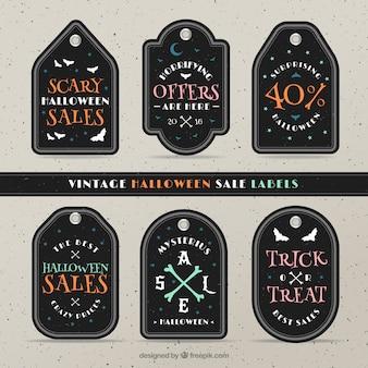 Coleção de etiquetas de ofertas do dia das bruxas