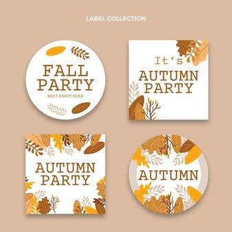 Coleção de etiquetas de outono