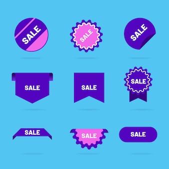 Coleção de etiquetas de vendas coloridas