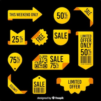 Coleção de etiquetas de vendas com ofertas limitadas