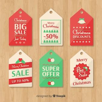 Coleção de etiquetas de vendas de natal