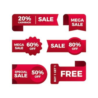 Coleção de etiquetas de vendas promocionais