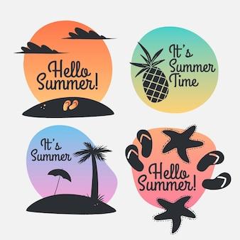 Coleção de etiquetas de verão