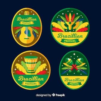 Coleção de etiquetas do carnaval brasileiro