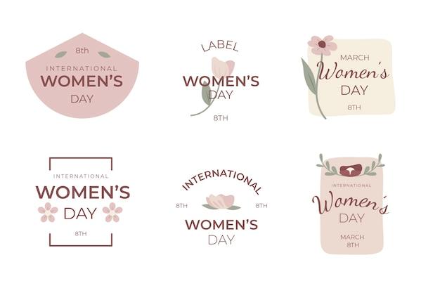 Coleção de etiquetas do dia da mulher