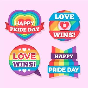 Coleção de etiquetas do dia do orgulho