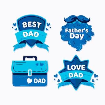 Coleção de etiquetas do dia dos pais