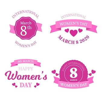 Coleção de etiquetas do dia internacional da mulher