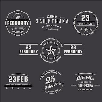 Coleção de etiquetas do dia nacional da pátria