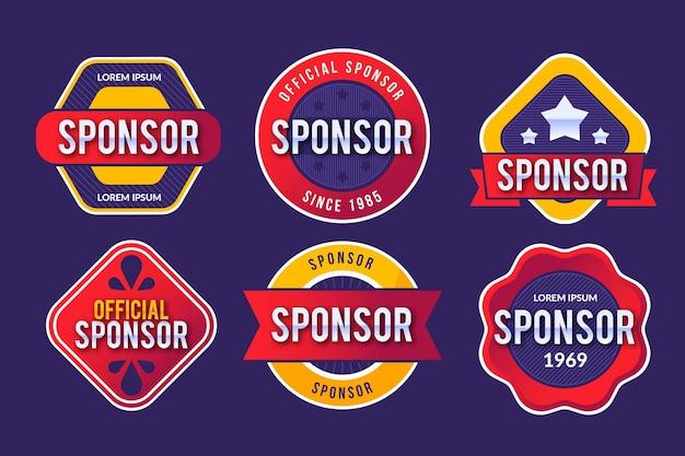 Coleção de etiquetas do patrocinador