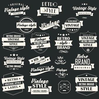 Coleção de etiquetas do vintage