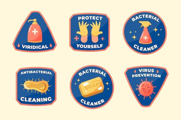 Coleção de etiquetas mais limpas