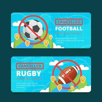 Coleção de eventos esportivos cancelados - banners