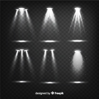 Coleção de explosões realistas de luz