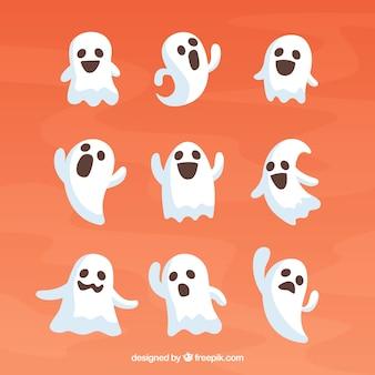 Coleção de fantasmas bonitos