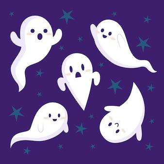 Coleção de fantasmas de halloween