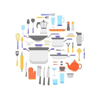 Coleção de ferramentas de cozinha