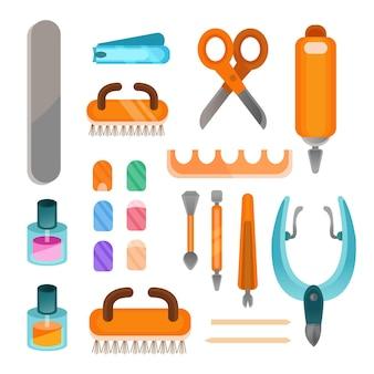 Coleção de ferramentas de manicure