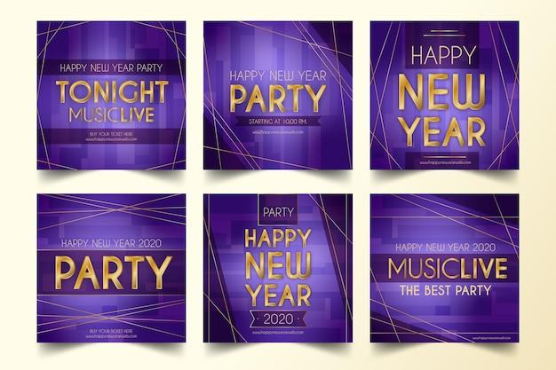 Coleção de festa de ano novo 2020 instagram post