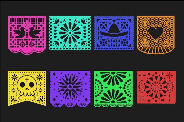 Coleção de festa temática de estamenha mexicana