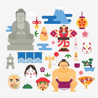 Coleção de festivais de verão no japão