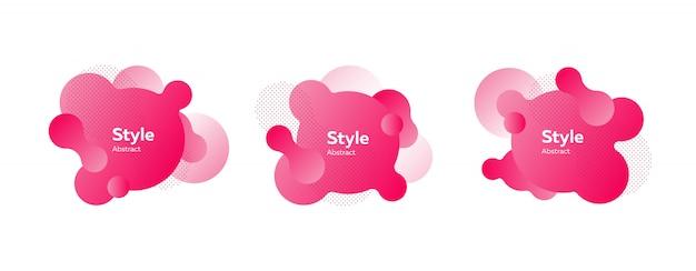 Coleção de figuras fluidas gradientes rosa