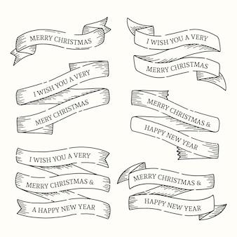 Coleção de fita de natal vintage