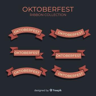 Coleção de fita de oktoberfest design plano