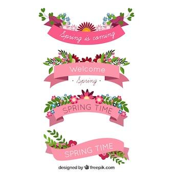 Coleção de fita de primavera