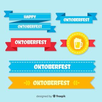 Coleção de fita design plano oktoberfest