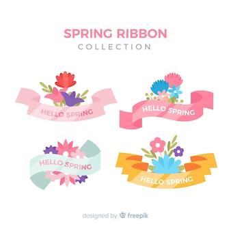 Coleção de fita floral Primavera colorida