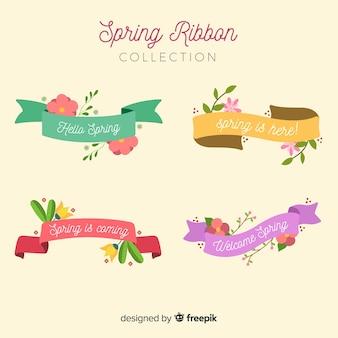 Coleção de fita floral primavera