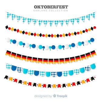 Coleção de fita ou guirlanda de oktoberfest