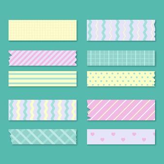 Coleção de fita plana washi