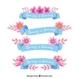 Coleção de fita primavera bonita