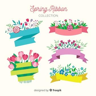 Coleção de fita primavera