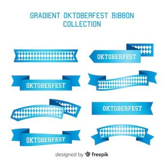 Coleção de fitas azuis oktoberfest