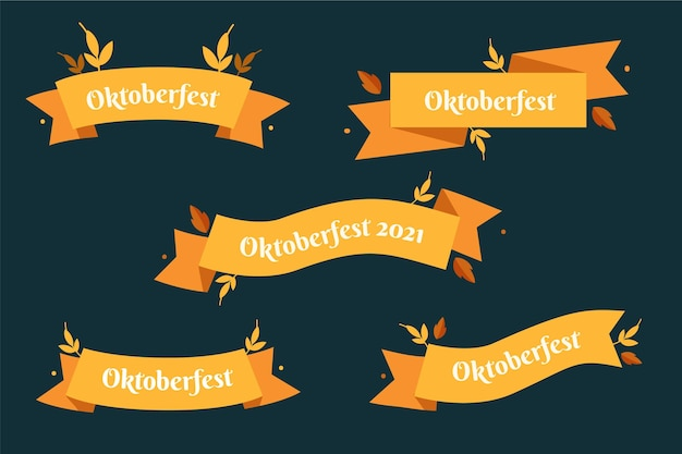 Coleção de fitas da oktoberfest