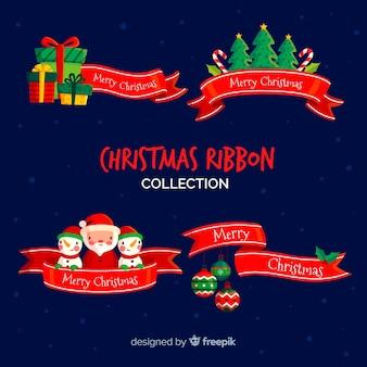 Coleção de fitas de natal