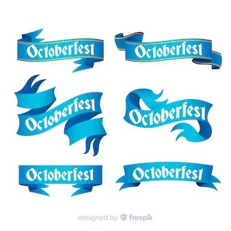 Coleção de fitas de oktoberfest em design de gradiente