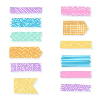 Coleção de fitas decorativas washi
