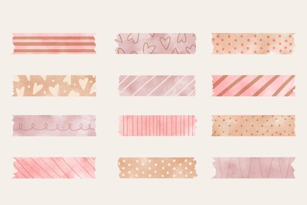 Coleção de fitas washi aquarela