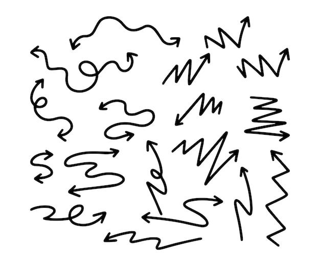 Coleção de flechas desenhadas à mão Vetor grátis
