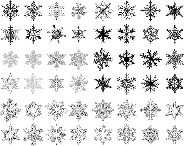 Coleção de floco de neve