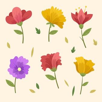 Coleção de flores de primavera vintage
